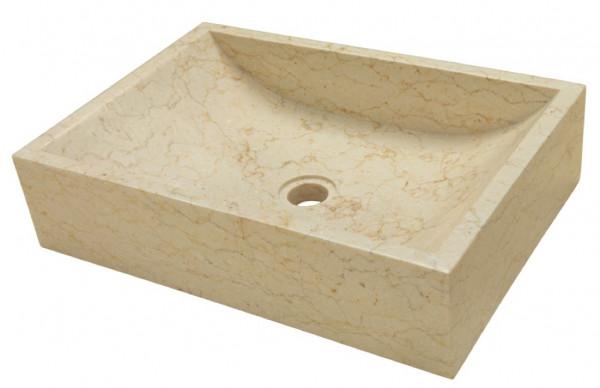 Marmor Waschbecken beige 35x50cm