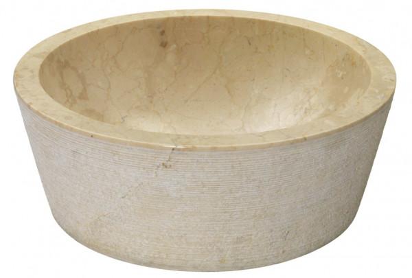 Marmor Waschbecken beige 40x40cm