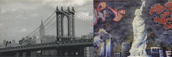 Wandfliese Dekor NewYork Graffiti 25x75cm