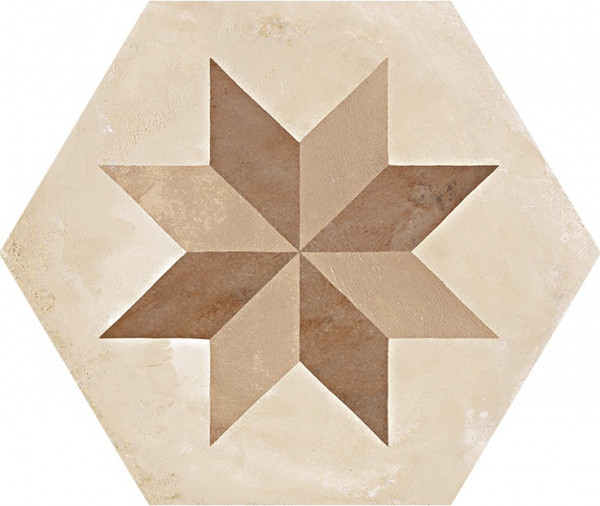Terra Stella vers.C Esagono 25x21,6cm