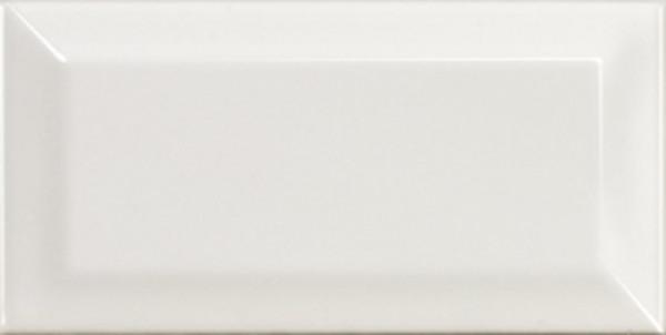 Metro white glänzend 7,5x15cm