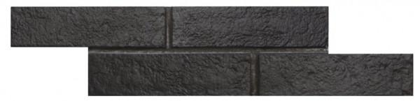 Wandverkleidung Ziegeloptik Black 6x25cm