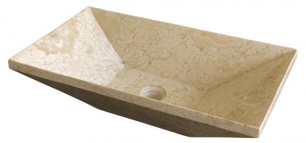 Marmor Waschbecken beige 35x60cm