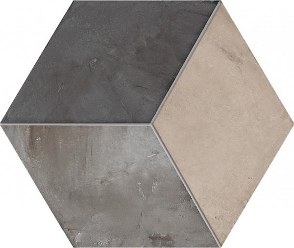 Terra Rombo vers.F Esagono 25x21,6cm