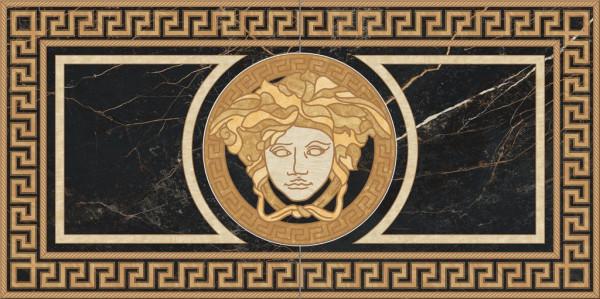 Versace Marble Rosone S.Laurent nero 58,5x117,5cm