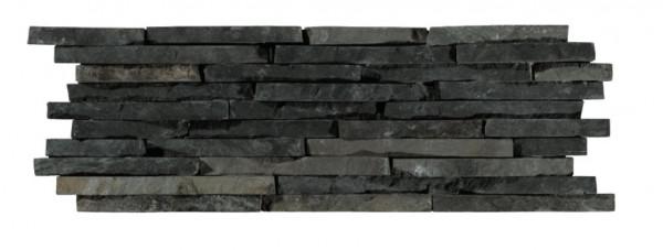 Wandverblender Naturstein Nero 15x45cm