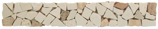 Marmor-Bordüre Beige Mix 5x30,5 cm