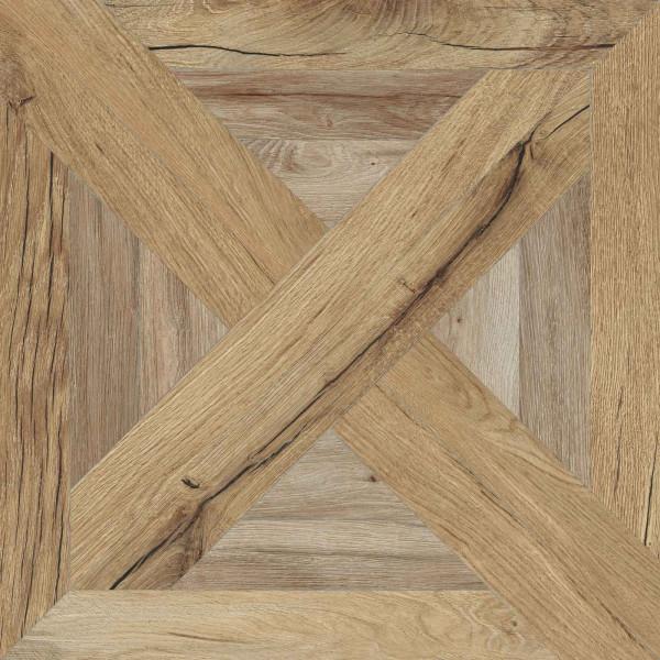 Holzoptik Dekor Beige / Gold 60x60 cm