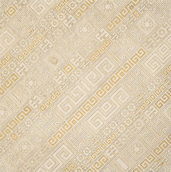 Versace Greek Dekor Stripes Beige/Oro 40x40cm