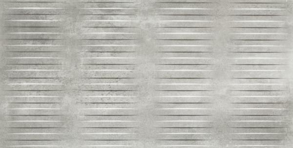 Dekorfliese in Metalloptik Alluminio 60x120 cm