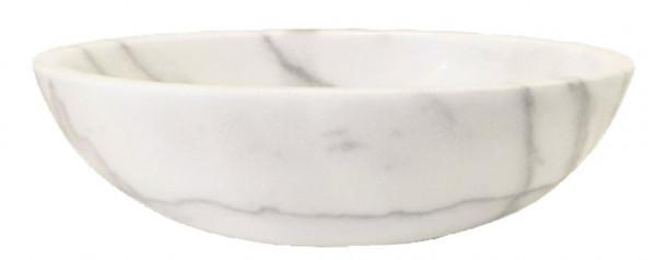 Marmor Waschbecken weiß 40,6x53cm