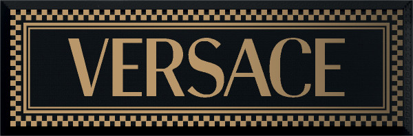 Versace Solid Gold Black Firma 20x60cm