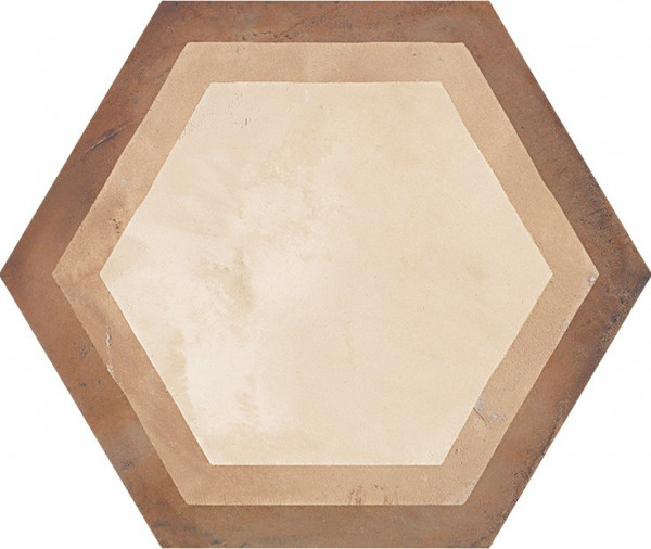 Terra Cornice vers.C Esagono 25x21,6cm