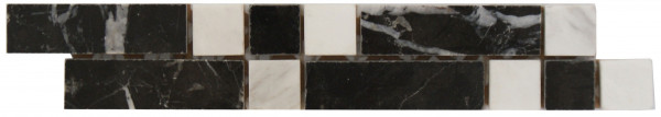 Marmor Bordüre Nero 4,2x23 cm