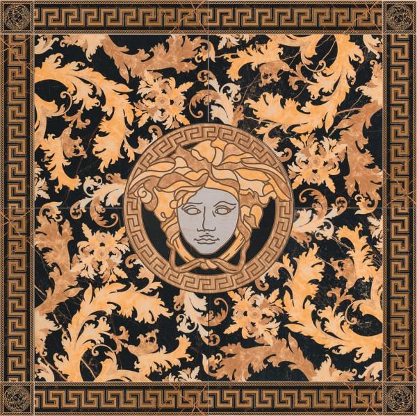 Versace Marble Rosone S.Laurent nero 117,2x117,2cm