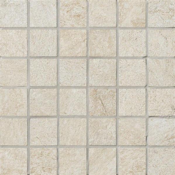 Steinoptik Mosaik Weiss 30x30cm