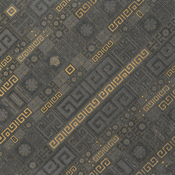 Versace Greek Dekor Stripes Antracite 40x40cm