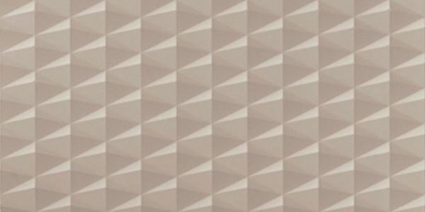 Wandfliese 3D Effekt Greige 40x80cm
