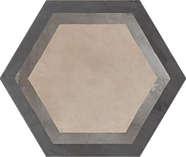 TerraCornice vers. F Esagono 25x21,6cm