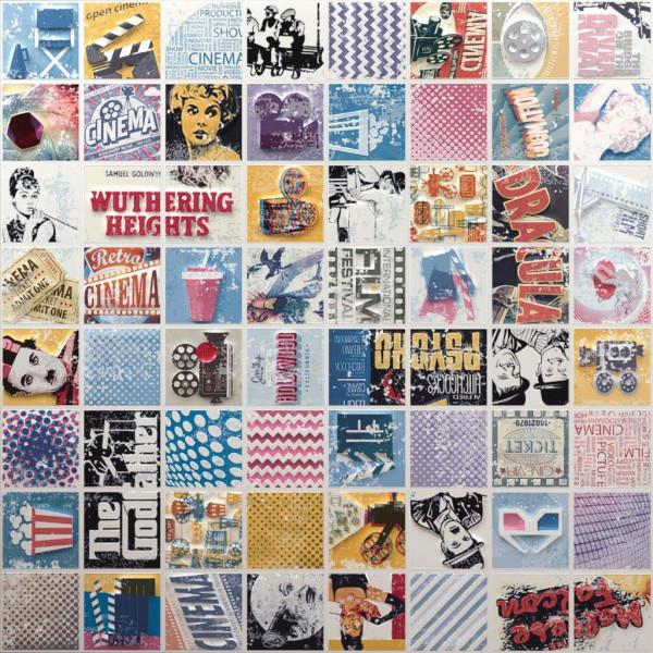 Mosaik Popcorn 28,1x28,1cm
