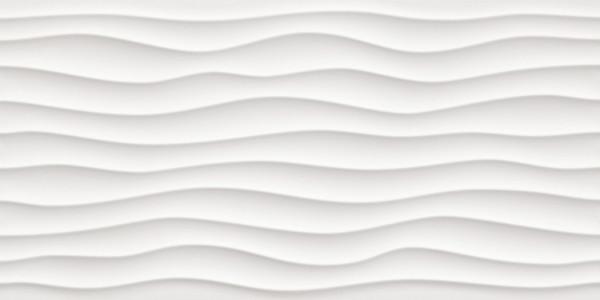 Wanddekor Weiss matt 40x80cm