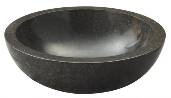 Marmor Waschbecken schwarz 45x45cm