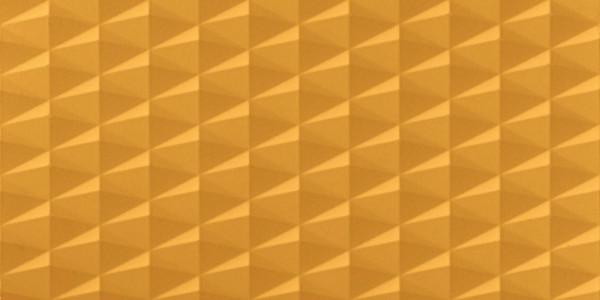 Wandfliese 3D Effekt Gelb 40x80cm