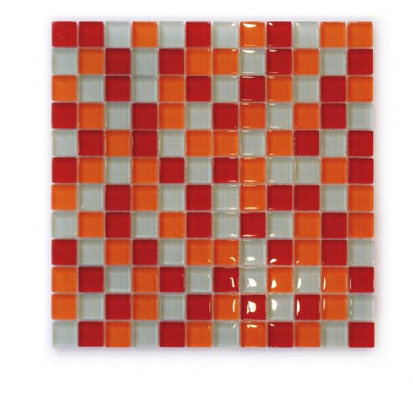 Glasmosaik Hot Spice 31,8x31,8 cm