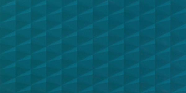 Wandfliese 3D Effekt Blau 40x80cm