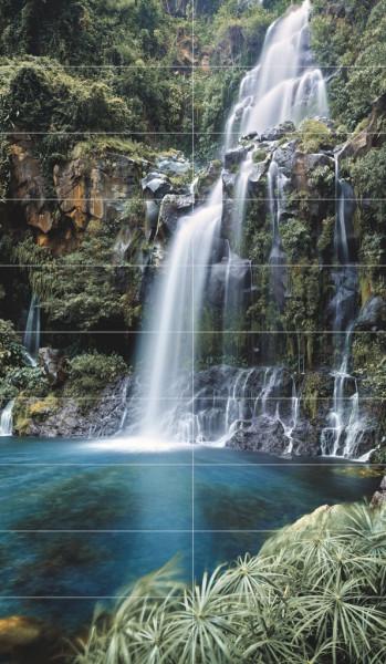 Wasserfall Dekor XXL 146x250cm