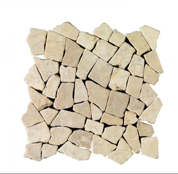 Marmorbruch Mosaik bianco 30x30cm