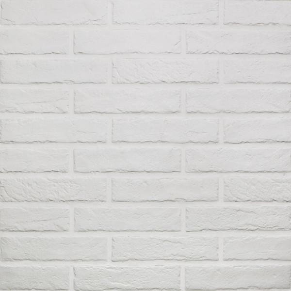 Wandverkleidung Ziegeloptik White Soft 6x25cm