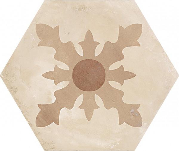 Terra Cardinale versC Esagono 25x21,6cm