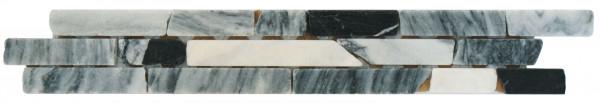 Marmor-Bordüre Ziegel Mix 5x30,5 cm